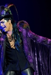"Singer Adam Lambert performs onstage during his ""Glam Nation 2010 Tour' at Club Nokia on December 16, 2010 in Los Angeles, California."