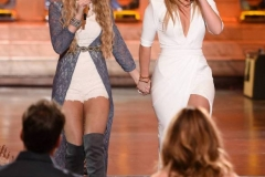 "AMERICAN IDOL: Season 10 runner-up Lauren Alaina with contestant Emily Brooke in the ""Showcase #1: 1st 12 Performances"" episode of AMERICAN IDOL airing Wednesday, Feb. 10 (8:00-9:01 PM ET/PT) on FOX. Cr: Michael Becker / FOX. © 2016 FOX Broadcasting Co."