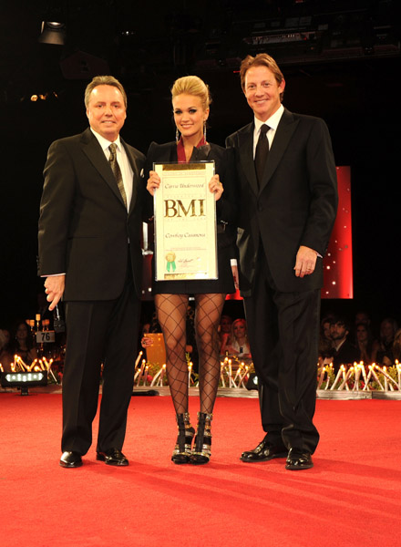 attends the 58th Annual BMI Country Music Awards at BMI on November 9,  2010 in Nashville,  Tennessee.