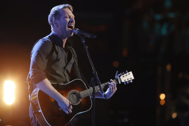 "THE VOICE -- ""Live Finale"" Episode 918A -- Pictured: Barrett Baber -- (Photo by: Trae Patton/NBC)"