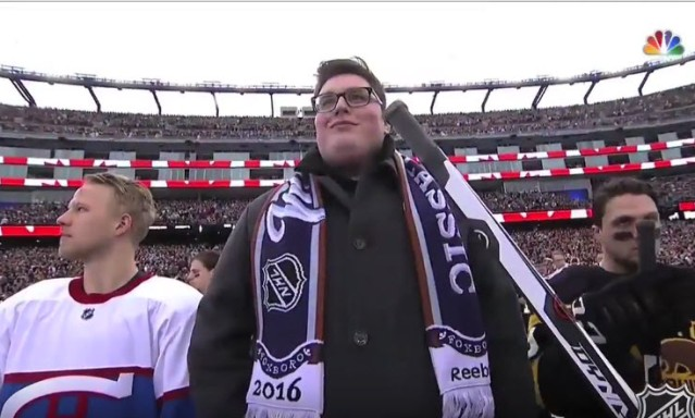 The Voice Jordan Smith National Anthem NHL Classic VIDEO