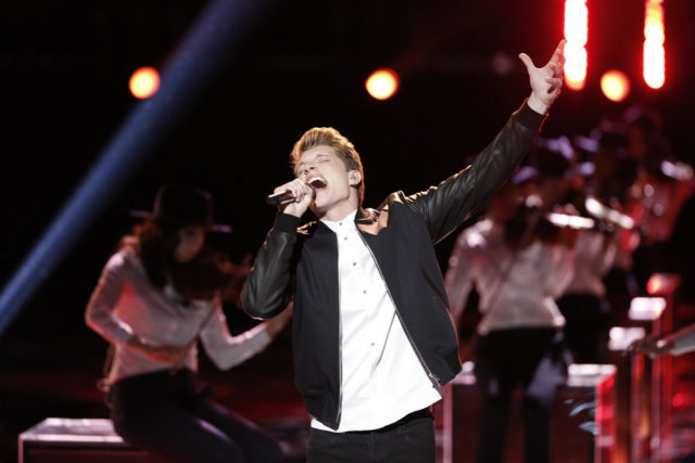 """THE VOICE -- """"Live Top 10"""" Episode 1015A -- Pictured: Daniel Passino -- (Photo by: Tyler Golden/NBC)"""