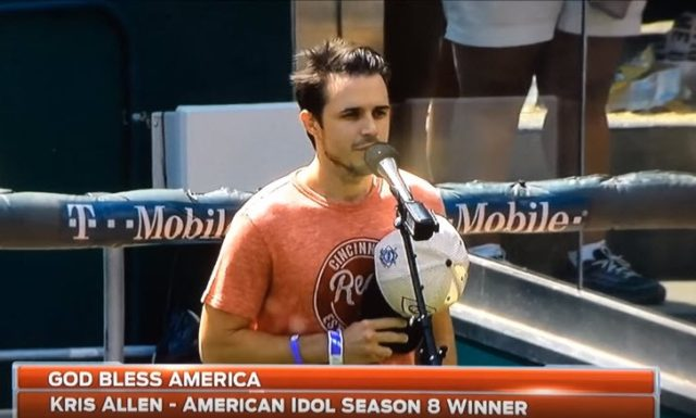 Kris Allen - God Bless America - Great American Ballpark, Cincinnati