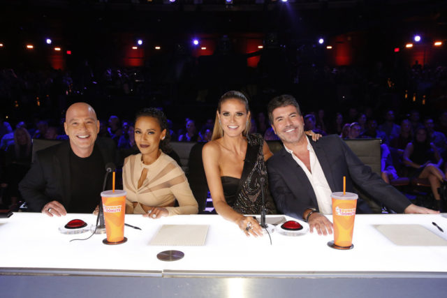 "AMERICA'S GOT TALENT -- ""Live Finale"" Episode: 1122 -- Pictured: (l-r) Howie Mandel, Mel B, Heidi Klum, Simon Cowell -- (Photo by: Trae Patton/NBC)"