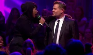 Jennifer Hudson and James Corden Engage in Epic Drop the Mic Rap Battle (VIDEO)