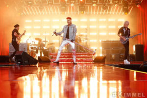 Adam Lambert Debuts New Song 'Two Fux' with Queen Jimmy Kimmel VIDEO