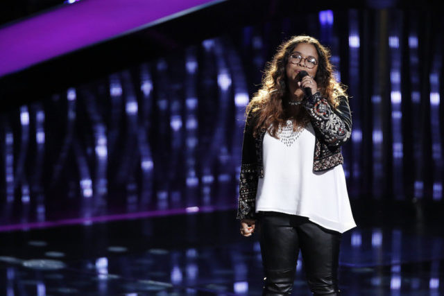 "THE VOICE -- ""Blind Auditions"" Episode 1301 -- Pictured: Brooke Simpson -- (Photo by: Tyler Golden/NBC)"
