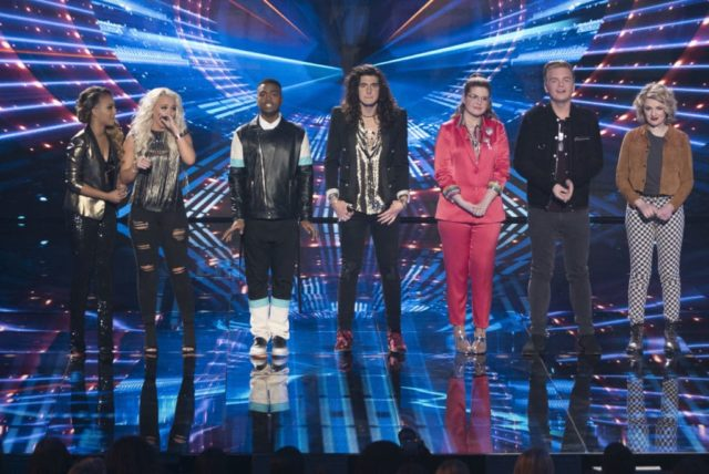 "AMERICAN IDOL - ""116 (Top 7)"" - The Top 7 finalists perform two songs this week, battling it out for AmericaÕs vote to make it into the Top 5, as the search for AmericaÕs next superstar continues on its new home on AmericaÕs network, The ABC Television Network, SUNDAY, MAY 6 (8:00-10:01 p.m. EDT, 5:00-7:01 p.m. PDT). (ABC/Eric McCandless) JURNEE, GABBY BARRETT, MICHAEL J. WOODARD, CADE FOEHNER, CATIE TURNER, CALEB LEE HUTCHINSON, MADDIE POPPE"