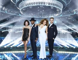 WORLD OF DANCE -- Season: 2 -- Pictured: (l-r) Jenna Dewan, Ne-Yo, Jennifer Lopez, Derek Hough -- (Photo by: Andrew Eccles/NBC)