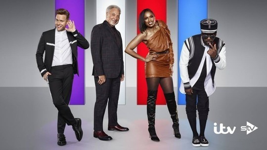 The Voice UK Olly Murs Tom Jones Jennifer Hudson will.i.am