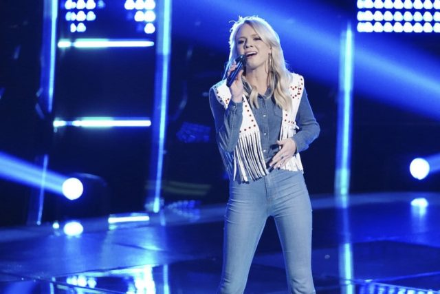 """THE VOICE -- """"Blind Auditions"""" Episode 1503 -- Pictured: Rachel Messer -- (Photo by: Tyler Golden/NBC)"""