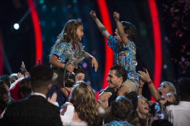 "DANCING WITH THE STARS: JUNIORS - ""The Finale (Holiday Special)"" - In a stunning surprise at the end of last week's episode, there was no elimination at the end of the night, so the four semi-finalist kid couples have all advanced to the finals on the season finale of ""Dancing with the Stars: Juniors,"" SUNDAY, DEC. 9 (8:00-9:00 p.m. EST), on The ABC Television Network. (ABC/Eric McCandless) SKY BROWN, ALAN BERSTEN, GLEB SAVCHENKO, JT CHURCH"