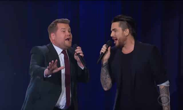James Corden Adam Lambert