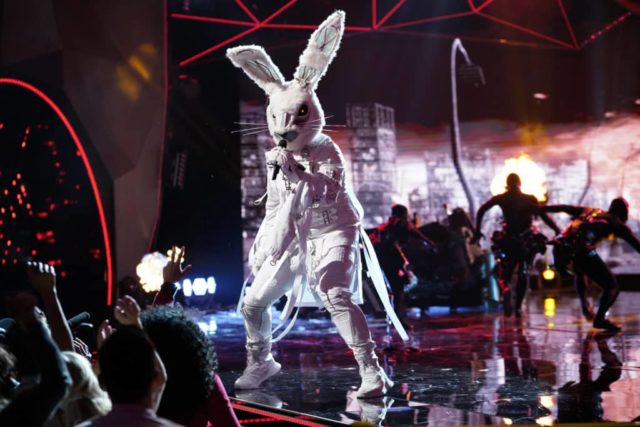 "THE MASKED SINGER: Rabbit in the ""New Masks on the Block"" episode of THE MASKED SINGER airing Wednesday, Jan. 9 (9:00-10:00 PM ET/PT) on FOX. © 2019 FOX Broadcasting. CR: Michael Becker / FOX."
