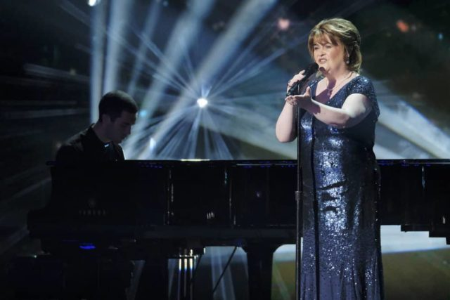 "AMERICA'S GOT TALENT: THE CHAMPIONS -- ""Champions One"" Episode 101 -- Pictured: Susan Boyle -- (Photo by: Trae Patton/NBC)"