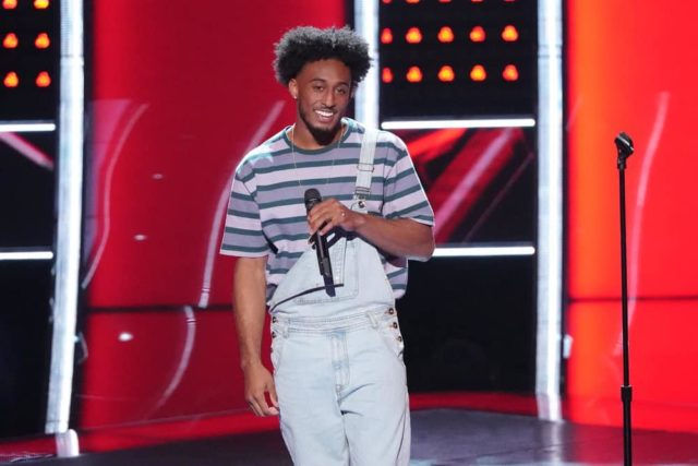 """THE VOICE -- """"Blind Auditions"""" -- Pictured: Domenic Haynes -- (Photo by: Tyler Golden/NBC)"""