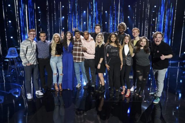 "AMERICAN IDOL - ""211 (All-Star Duets)"" - The remaining 10 contestants of the Top 20 perform duets with all-star celebrity partners from The Wiltern in Los Angeles, as the search for America's next superstar continues on The ABC Television Network, MONDAY, APRIL 8 (8:00-10:00 p.m. EDT), streaming and on demand. Following the performances, the tension will rise as the remaining 10 contestants find out who has made the last seven spots, rounding out the Top 14 during a final elimination that will leave audiences stunned. (ABC/Eric McCandless) WALKER BURROUGHS, LAINE HARDY, LACI KAYE BOOTH, EVELYN CORMIER, ALEJANDRO ARANDA, DIMITRIUS GRAHAM, WADE COTA, ASHLEY HESS, ALYSSA RAGHU, UCHE, RILEY THOMPSON, JEREMIAH LLOYD HARMON, MADISON VANDENBURG, EDDIE ISLAND"