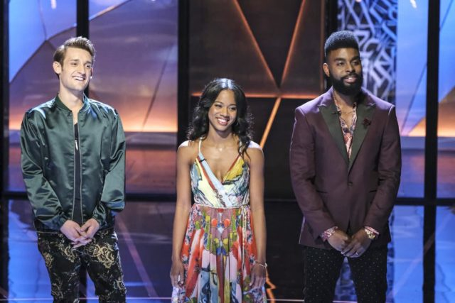 SONGLAND -- Episode X -- Pictured: (l-r) Max Embers, Tebby Burrows, Ollie Gabriel -- (Photo by: Trae Patton/NBC)
