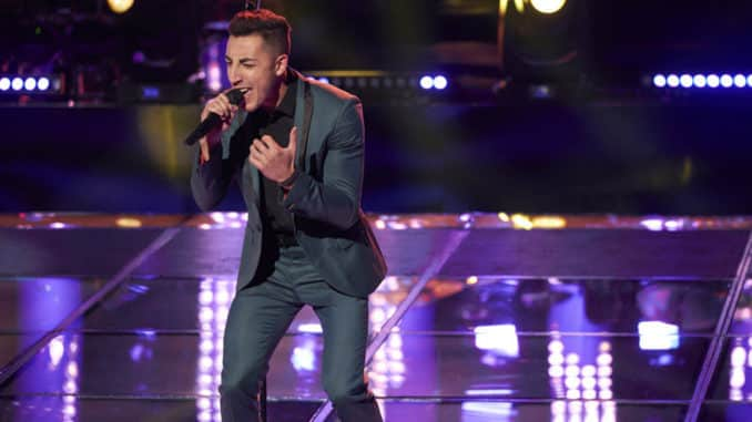 "THE VOICE -- ""Knockout Rounds"" Episode 1712 -- Pictured: Ricky Duran -- (Photo by: Tina Thorpe/NBC)"