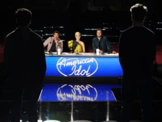 "AMERICAN IDOL - ""307 (Hollywood Week)"" - ""American Idol""'s new Hollywood Week continues SUNDAY, MARCH 22 (8:00-10:00 p.m. EDT), on ABC, with the surprise of the all-new duets round. While contestants anticipate the infamous group rounds, they are in for a shock when the judges announce they have to pick just one partner to duet with on The Orpheum Theatre stage. One pair's tensions run high as they can't agree on a song, while sparks fly with another pair. Two pop divas come together for a powerful rendition of a Celine Dion song; and later, one pop vocalist and one country singer team up to wow the judges with their unexpected harmony. (ABC/Eric McCandless) LIONEL RICHIE, KATY PERRY, LUKE BRYAN"