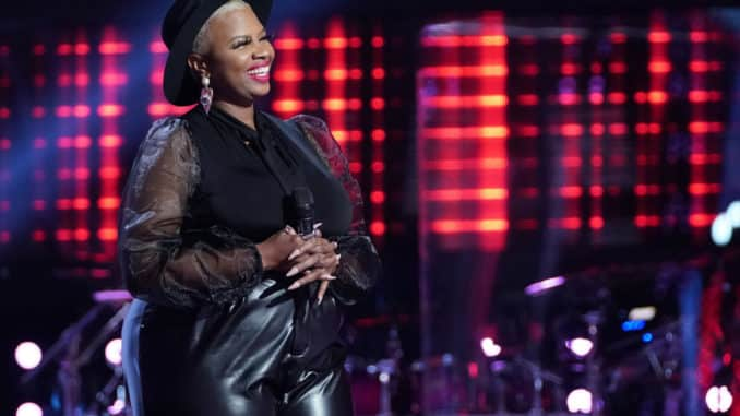"""THE VOICE -- """"Blind Auditions"""" Episode 2001 -- Pictured: Dana Monique -- (Photo by: Tyler Golden/NBC)"""