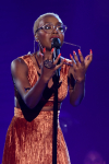 """THE FOUR: BATTLE FOR STARDOM: Contestant Leah Jenea performs in the """"Week Seven"""" episode of THE FOUR: BATTLE FOR STARDOM airing Thursday, July 26 (8:00-10:00 PM ET/PT) on FOX. CR: Ray Mickshaw / FOX. © 2018 FOX Broadcasting Co."""