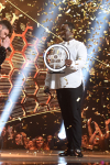 """THE FOUR: BATTLE FOR STARDOM: L-R: Host Fergie, Season Two winner James Graham, judge Sean """"Diddy"""" Combs and contestant Sharaya J in the """"The Finale"""" Season Two finale episode of THE FOUR: BATTLE FOR STARDOM airing Thursday, August 2 (8:00-10:00 PM ET/PT) on FOX. CR: Ray Mickshaw / FOX. © 2018 FOX Broadcasting Co."""